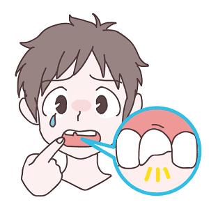 歯が折れる