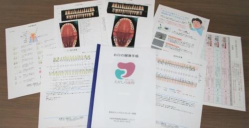歯科の検査結果と資料