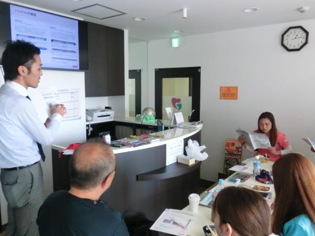 歯石除去の器具について院内勉強会を行いました。